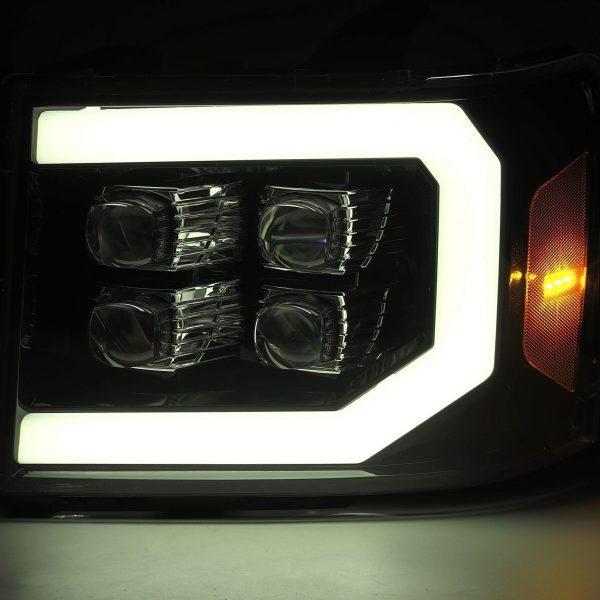 2007 2008 2009 2010 2011 2012 2013 GMC Sierra NOVA-Series Projector Headlights DRL