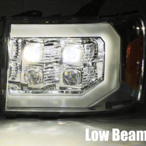 2007 2008 2009 2010 2011 2012 2013 GMC Sierra NOVA-Series Projector Headlights Low Beam