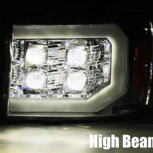2007 2008 2009 2010 2011 2012 2013 GMC Sierra NOVA-Series Projector Headlights High Beam