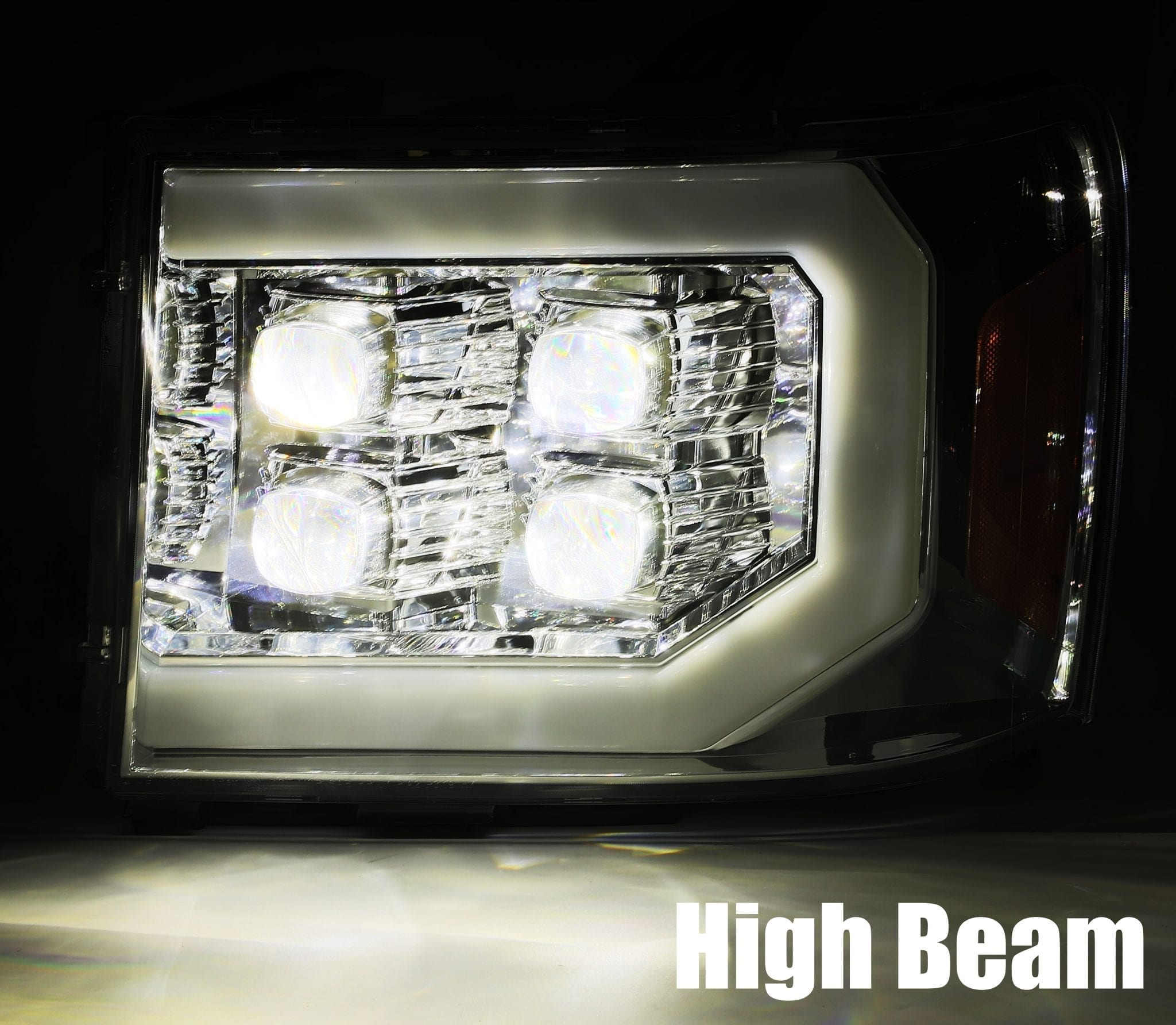 2007 2008 2009 2010 2011 2012 2013 GMC Sierra NOVA-Series Projector Headlights High Beam
