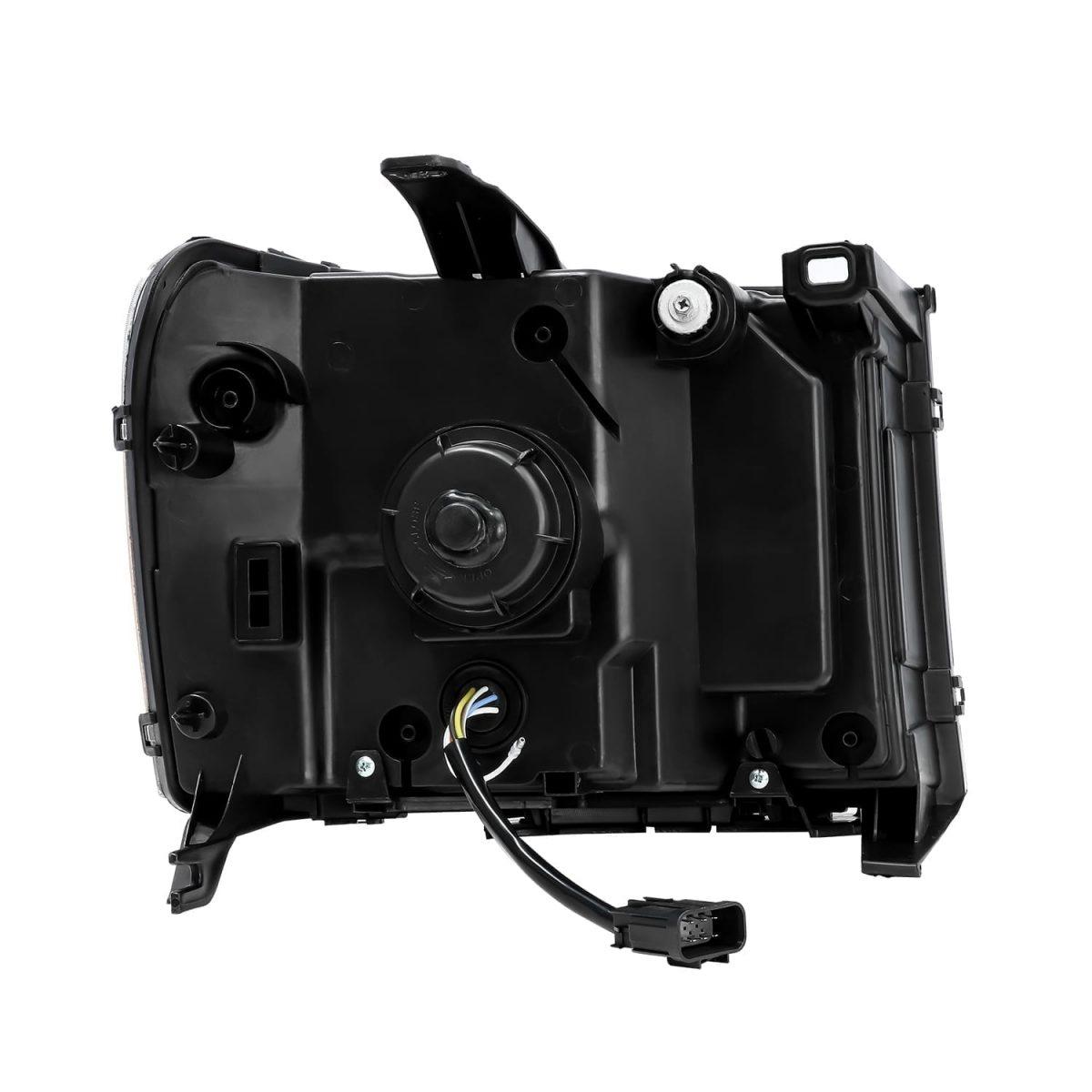 2007 2008 2009 2010 2011 2012 2013 GMC Sierra NOVA-Series Projector Headlights Back