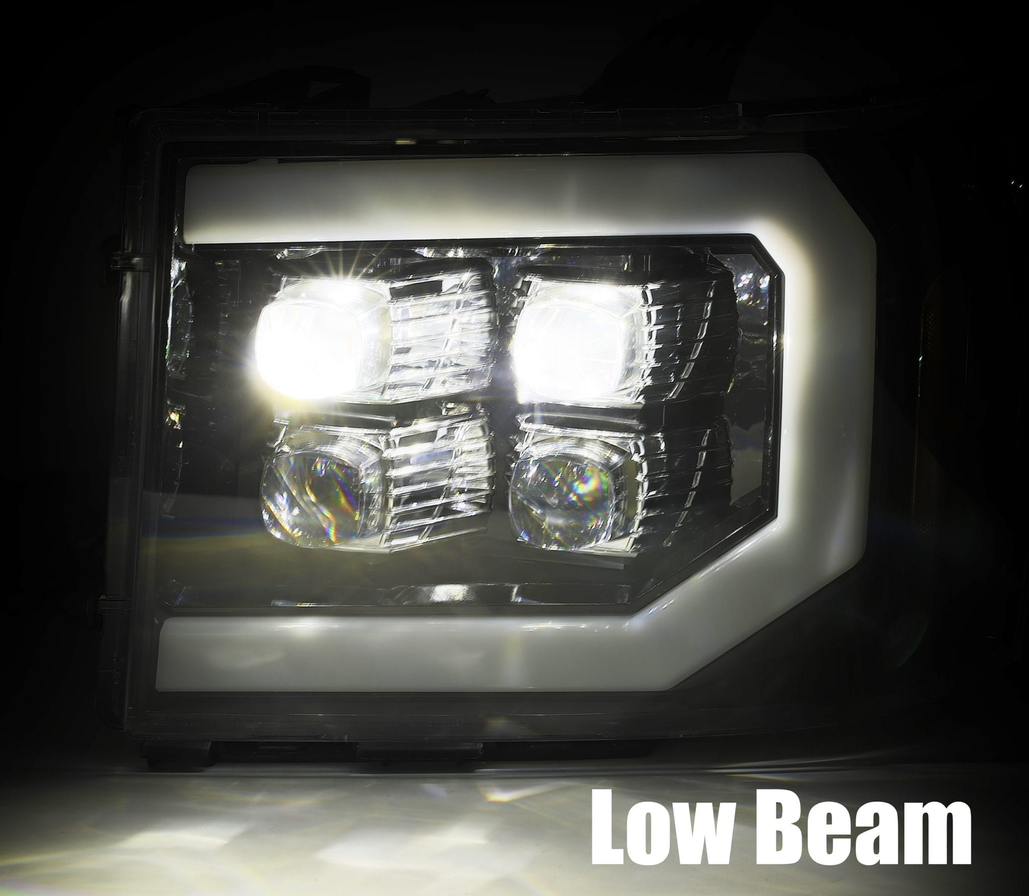 2007 2008 2009 2010 2011 2012 2013 GMC Sierra NOVA-Series Projector Headlights Low Beam