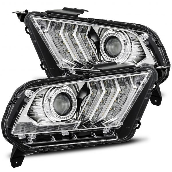 2010 2011 2012 Ford Mustang PRO-Series Projector Headlights Chrome