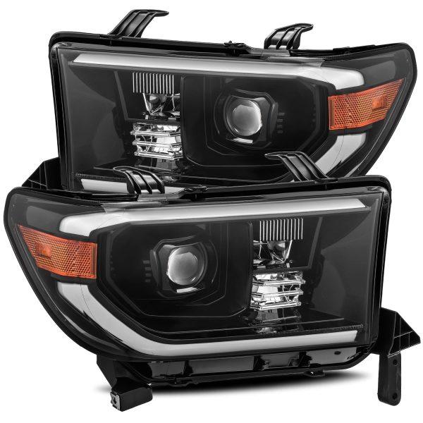2007 2008 2009 2010 2011 2012 2013 Toyota Tundra Sequoia PRO-Series Projector Headlights Mid-Night Black