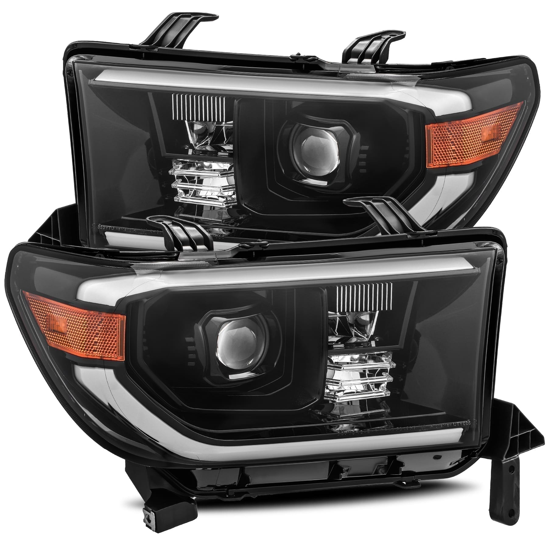 2007 2008 2009 2010 2011 2012 2013 Toyota Tundra Sequoia PRO-Series Projector Headlights Mid-Night Black