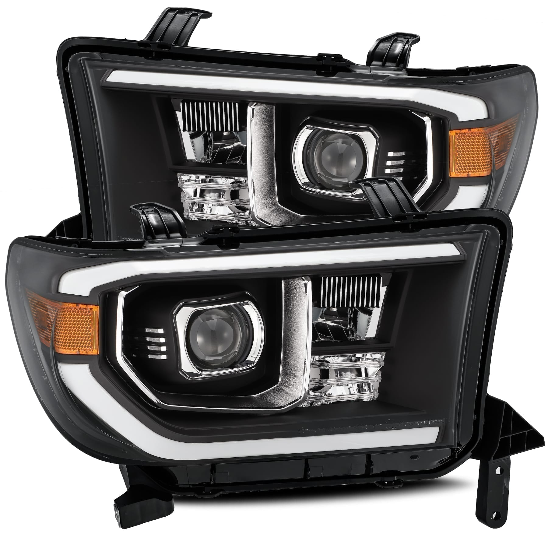 2007 2008 2009 2010 2011 2012 2013 Toyota Tundra Sequoia PRO-Series Projector Headlights Black