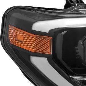 2014 2015 2016 2017 2018 2019 2020 Toyota Tundra PRO Series Projector Headlights Mid-Night Black