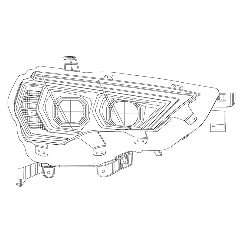 2014 2015 2016 2017 2018 2019 2020 Toyota 4Runner PRO-Series Projector Headlights Design