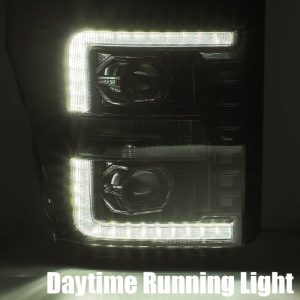 2011 2012 2013 2014 2015 2016 Ford F250 F350 F450 F550 Super Duty PRO-Series Luxx-Series Projector Headlights Black