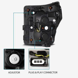 2011 2012 2013 2014 2015 2016 Ford F250 F350 F450 F550 Super Duty PRO-Series Projector Headlights Black
