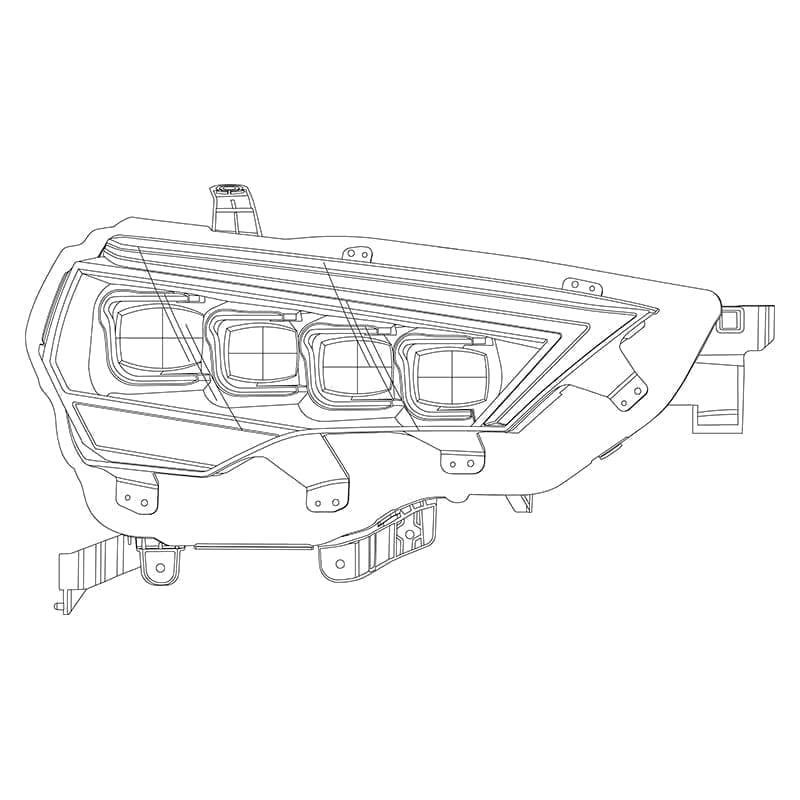 2014 2015 2016 2017 2018 2019 2020 Toyota 4Runner NOVA-Series Full LED Projector Headilghts Design