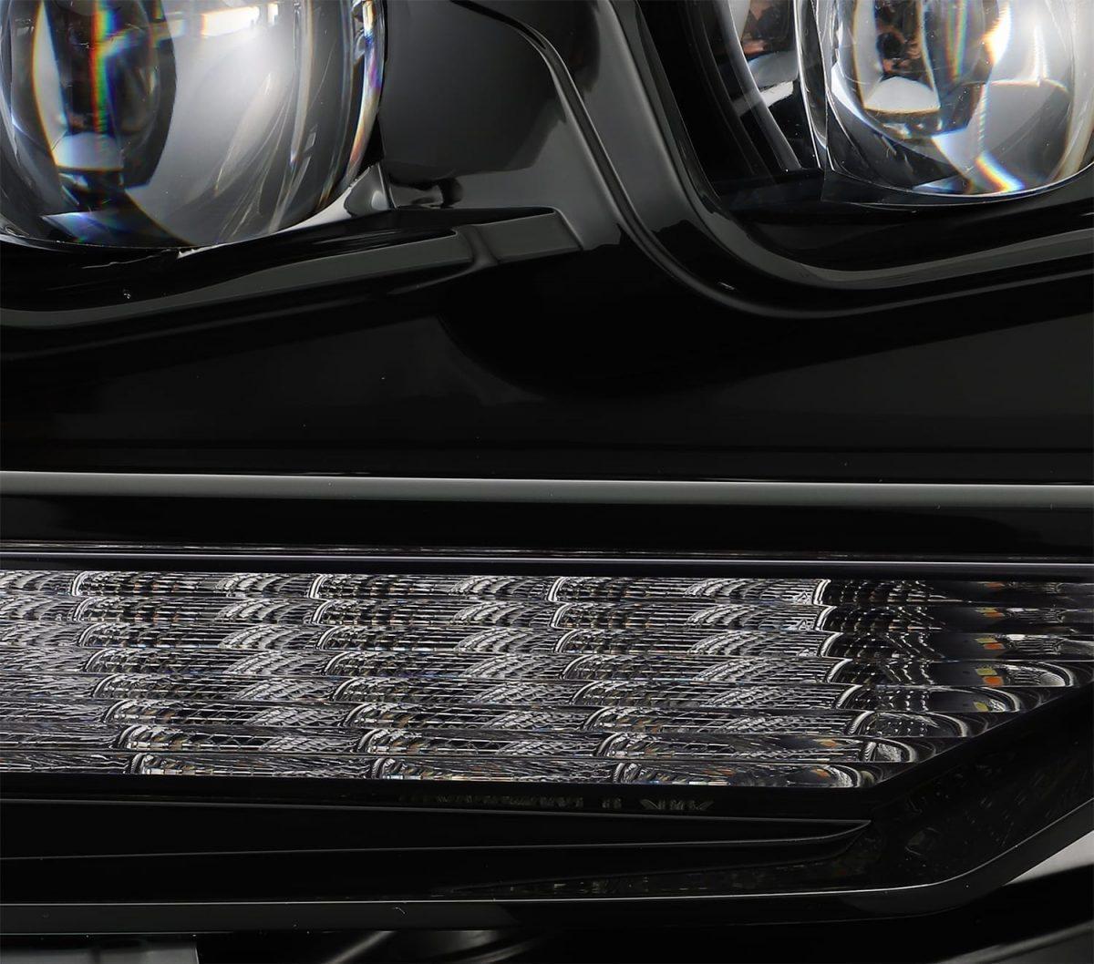 2014 2015 2016 2017 2018 2019 2020 Toyota 4Runner NOVA-Series Full LED Projector Headlights Midnight Black