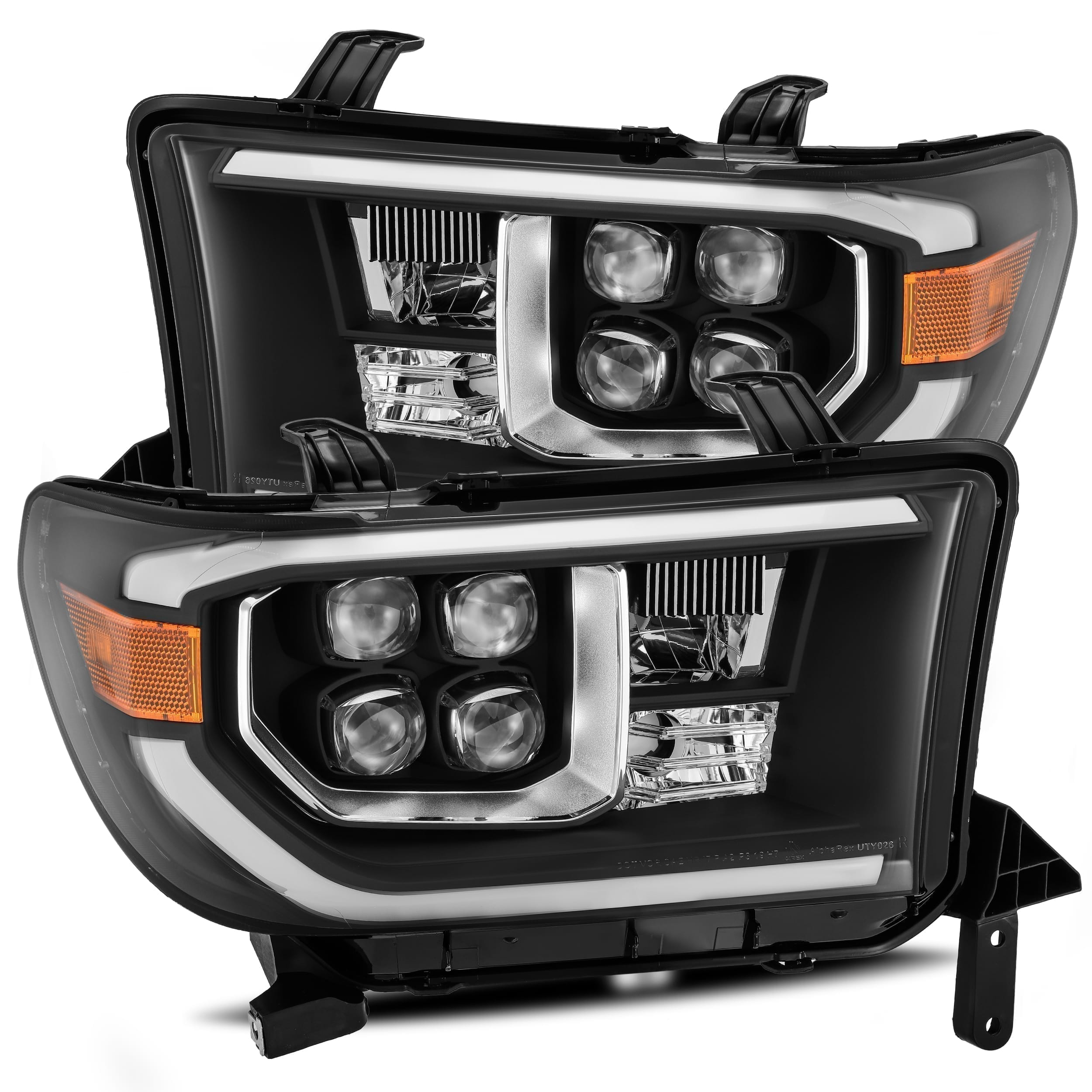 2007 2008 2009 2010 2011 2012 2013 Toyota Tundra Sequoia NOVA-Series Full LED Projector Headlights Black