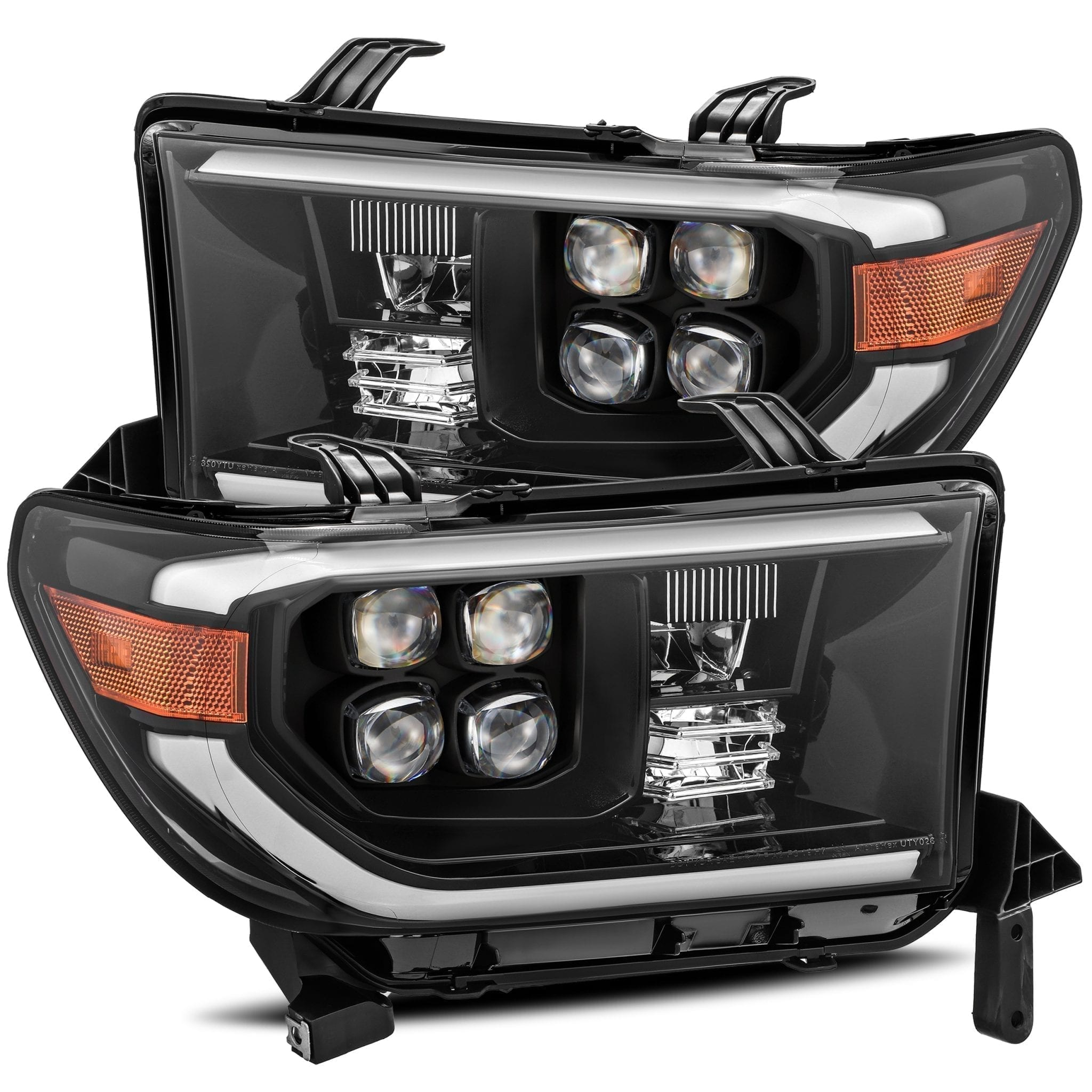 2007 2008 2009 2010 2011 2012 2013 Toyota Tundra Sequoia NOVA-Series Full LED Projector Headlights Midnight Black