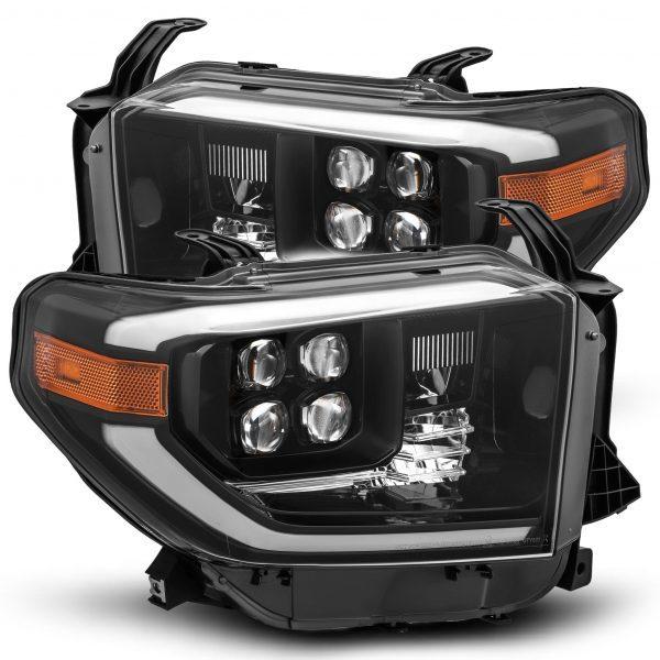 2014 2015 2016 2017 2018 2019 2020 Toyota Tundra NOVA-Series Full LED Projector Headlights Midnight Black
