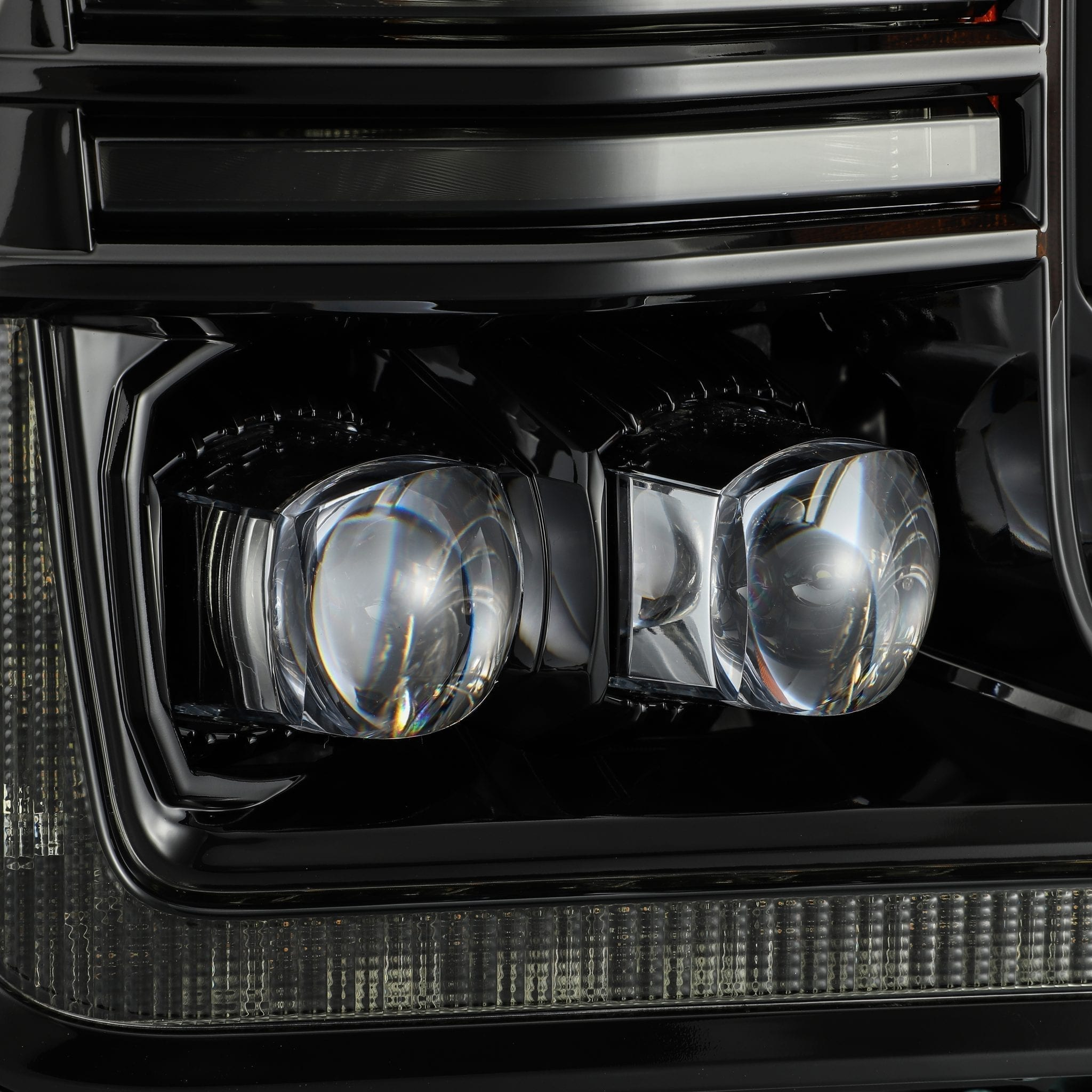 2018 2019 2020 Ford F150 NOVA-Series LED Projector Headlights Mid-Night Black