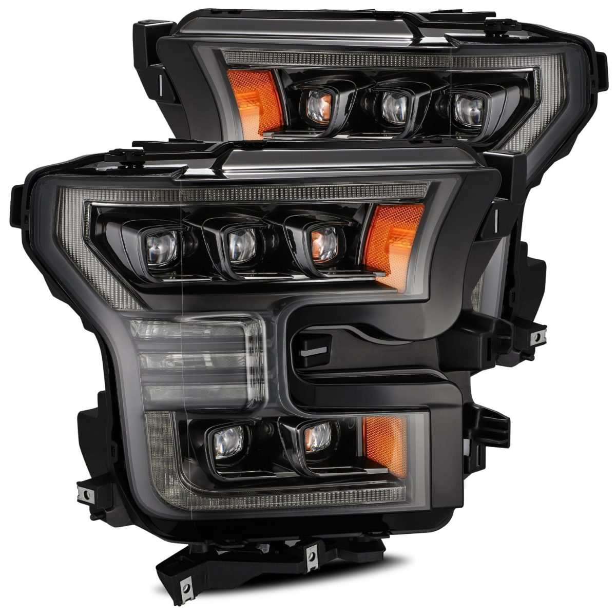 2015 2016 2017 Ford F150 NOVA-Series LED Projector Headlights Mid-Night Black