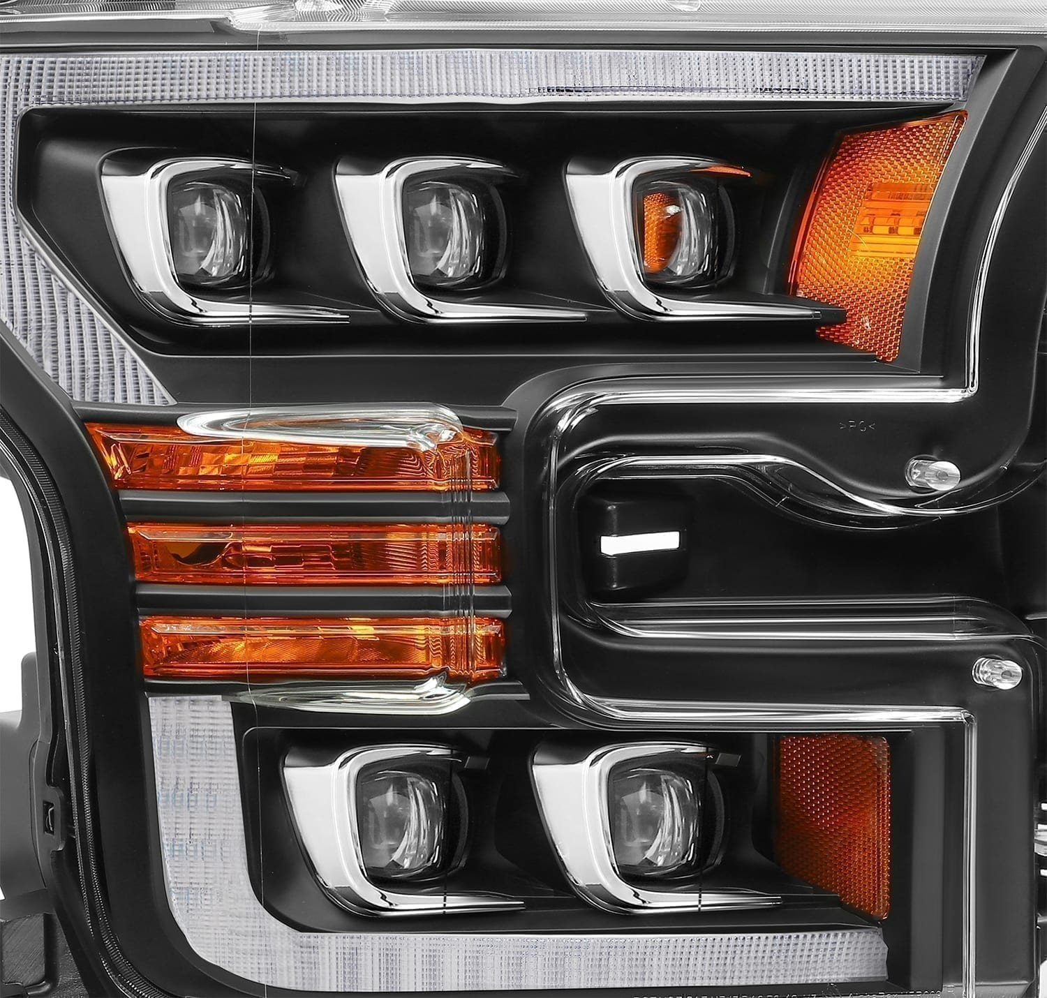2015 2016 2017 Ford F150 NOVA-Series LED Projector Headlights Black
