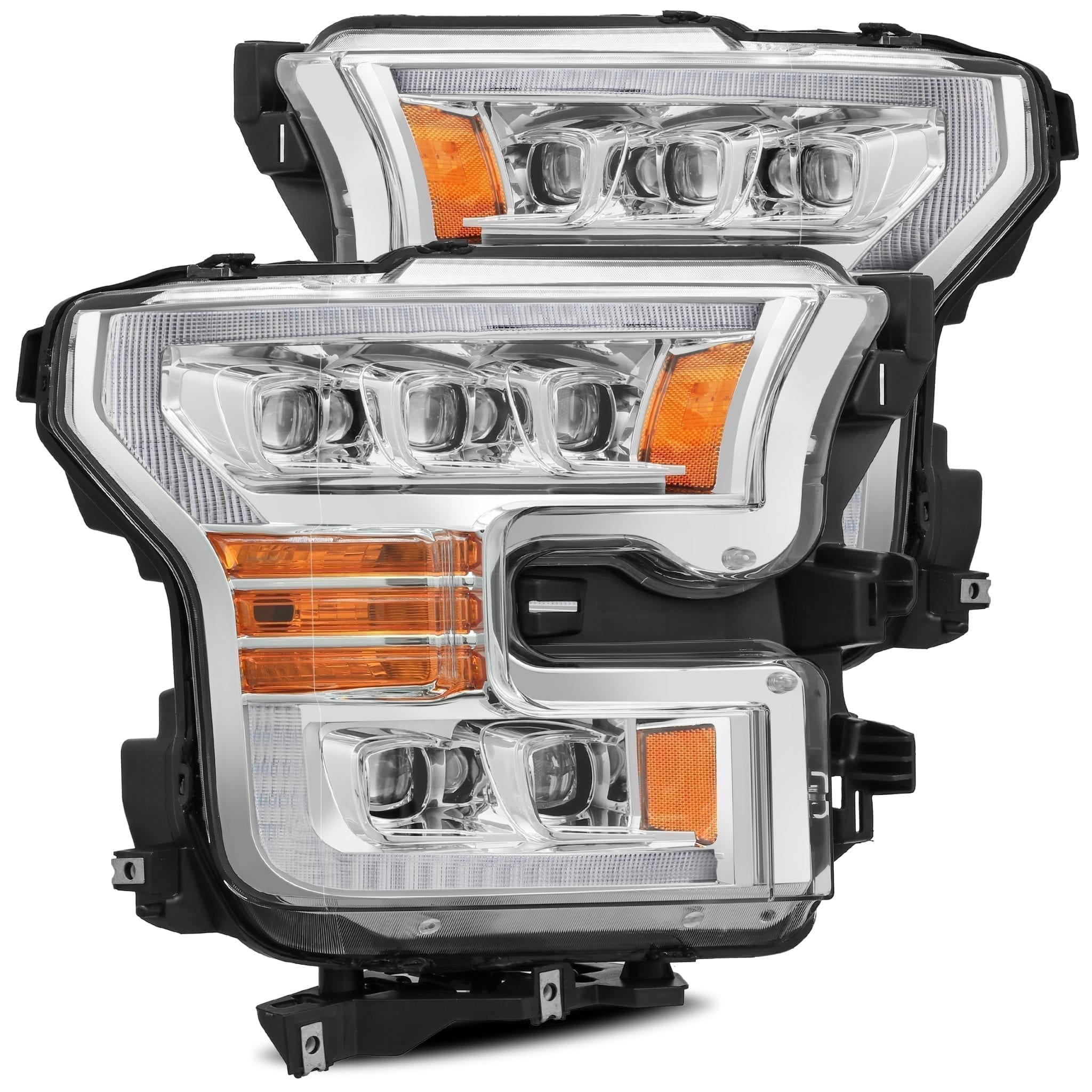 2015 2016 2017 Ford F150 NOVA-Series LED Projector Headlights Chrome