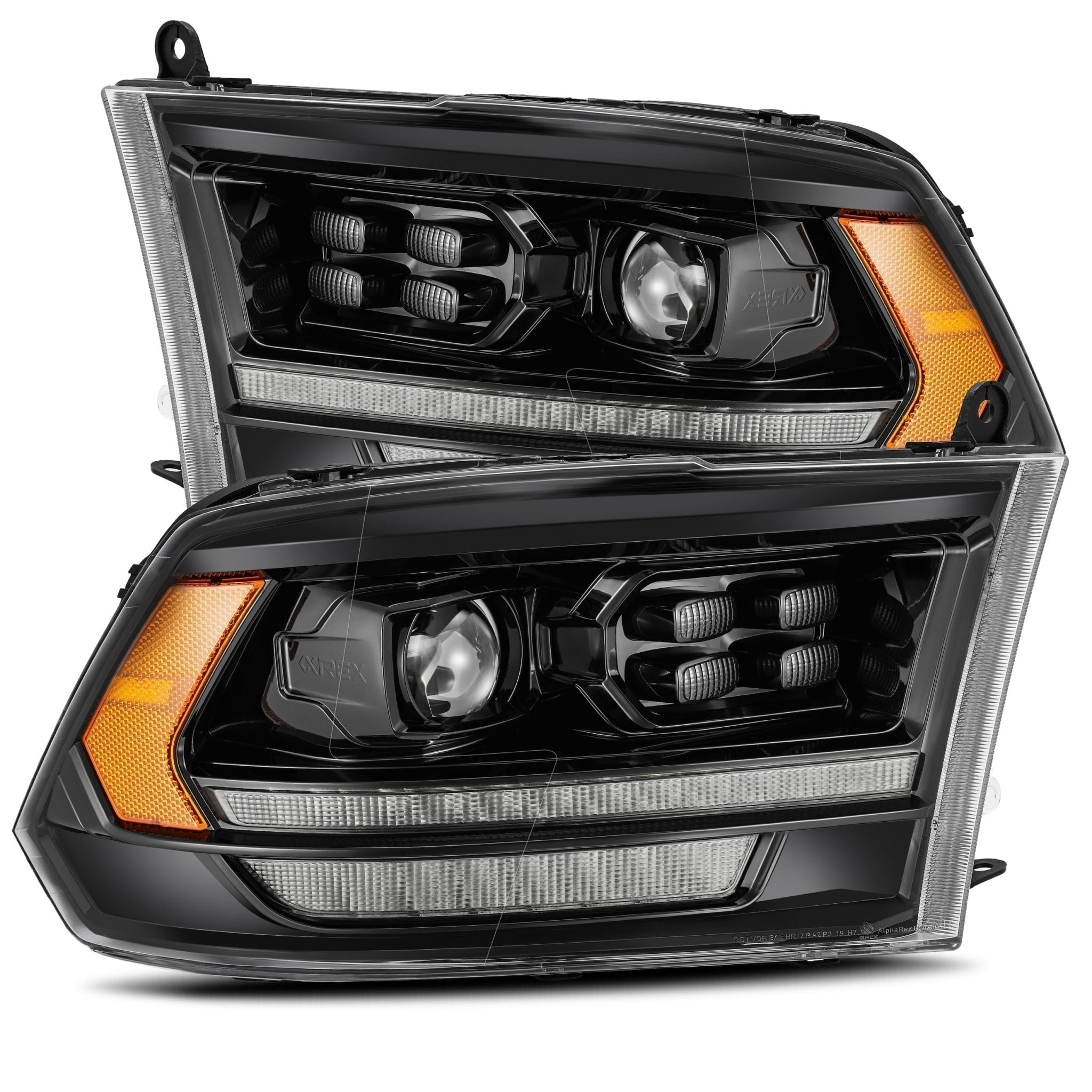 2009 2010 2011 2012 2013 2014 2015 2016 2017 2018 Dodge Ram 5th Gen 2500 Style PRO-Series Projector Headlights Mid-Night Black