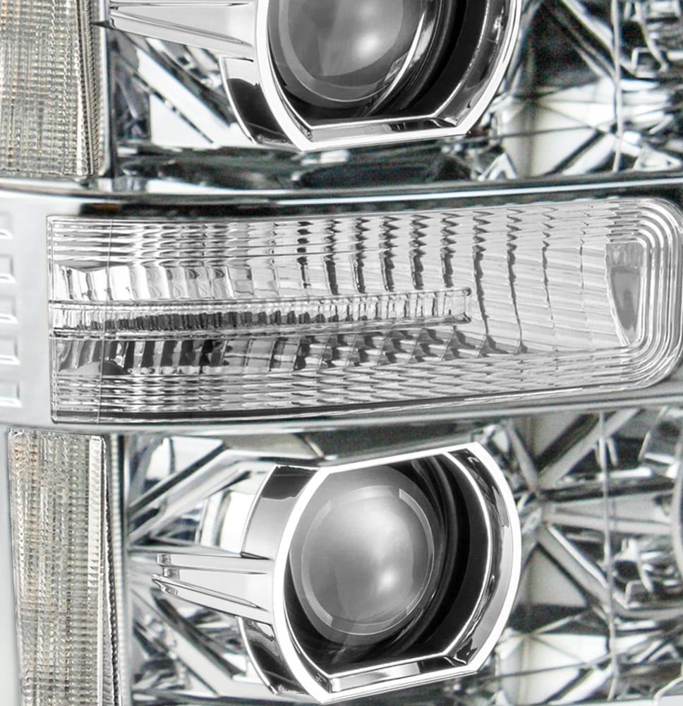 2011 2012 2013 2014 2015 2016 Ford F250 F350 F450 F550 Super Duty PRO-Series Luxx-Series Projector Headlights Chrome