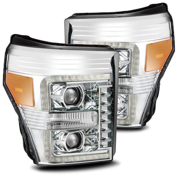 2011 2012 2013 2014 2015 2016 Ford F250 F350 F450 F550 Super Duty PRO-Series Luxx-Series Projector Headlights Chrome