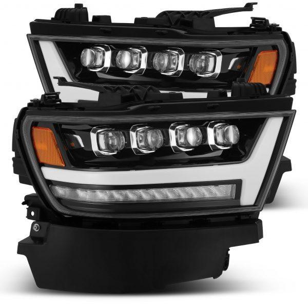 2019 2020 Ram 1500 NOVA Series LED Projector Headlights Jet Black