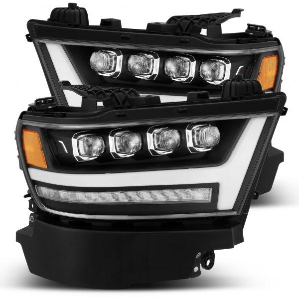 2019 2020 Ram 1500 NOVA Series LED Projector Headlights Black