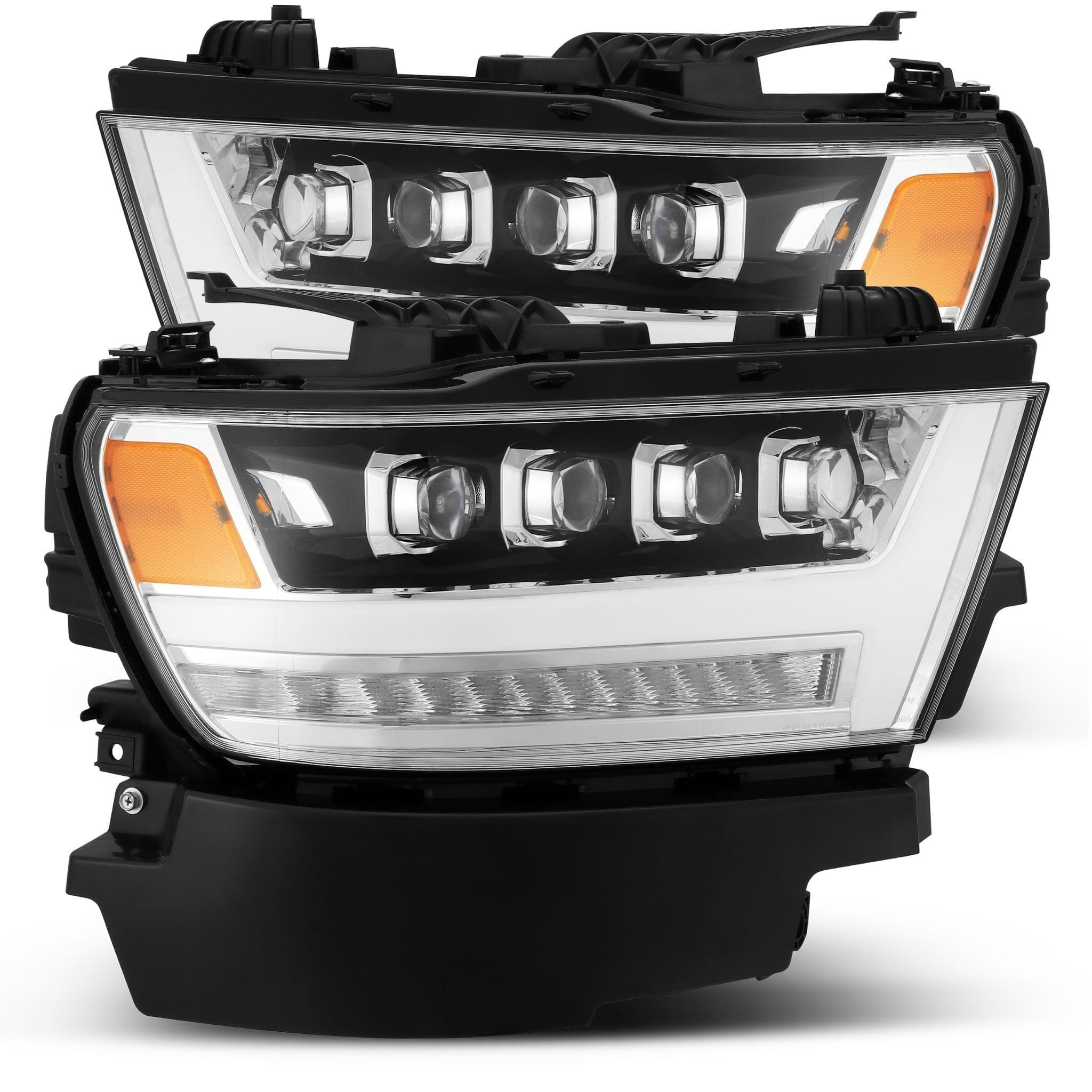 2019 2020 Ram 1500 NOVA Series LED Projector Headlights Chrome