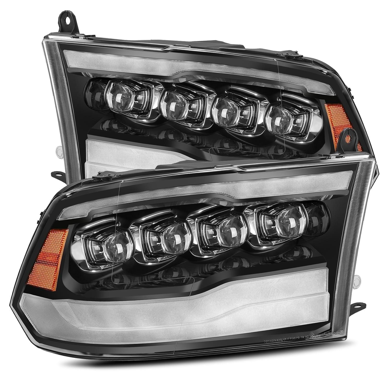 2009 2010 2011 2012 2013 2014 2015 2016 2017 2018 Ram 1500 2500 3500 NOVA Series Full LED Projector Headlights Jet Black