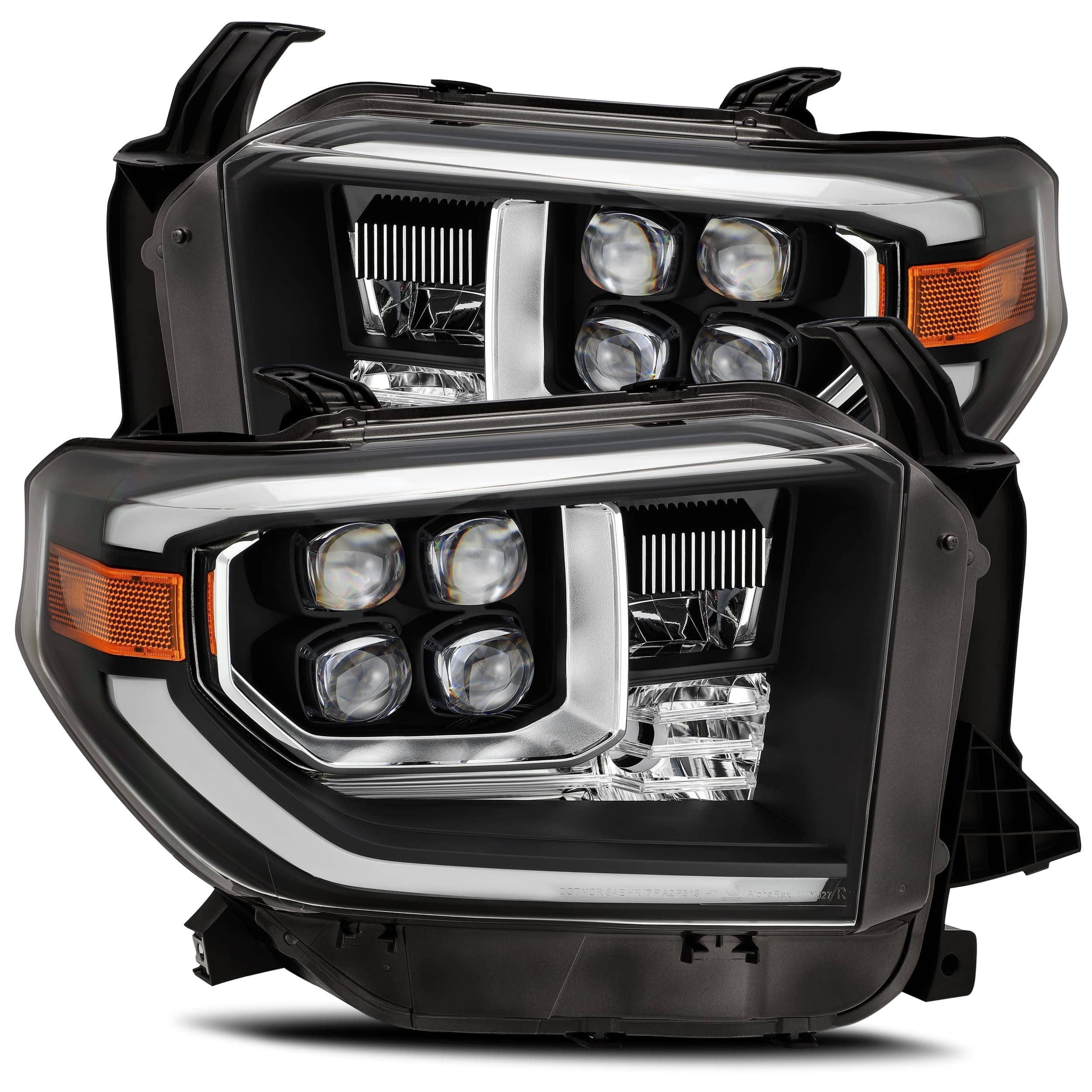 2014 2015 2016 2017 2018 2019 2020 Toyota Tundra NOVA-Series LED Projector Headlights Black