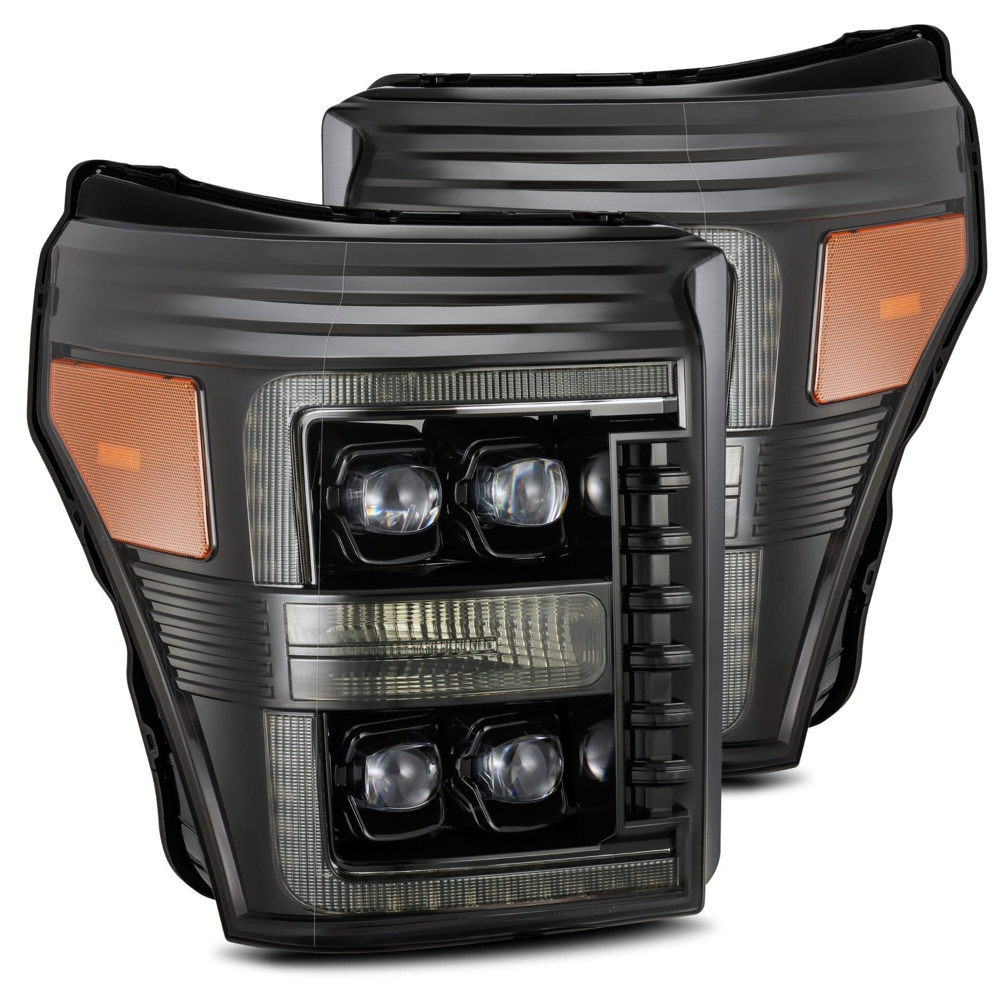 2011 2012 2013 2014 2015 2016 Ford F250 F350 F450 F550 Super Duty NOVA-Series Full LED Projector Headlights Alpha-Black