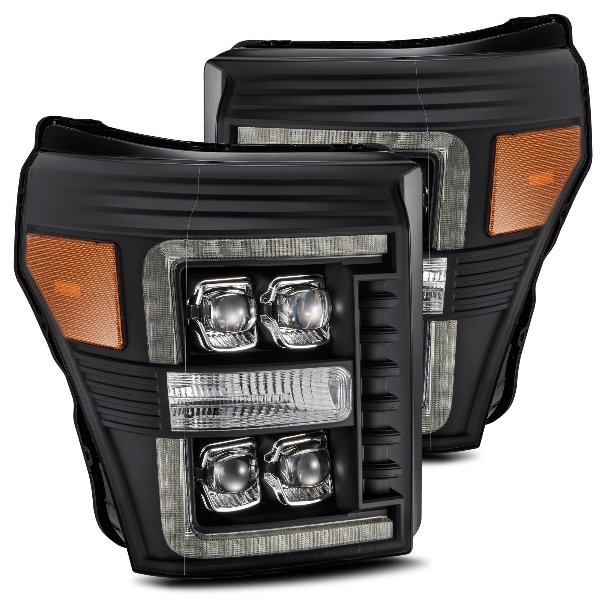 2011 2012 2013 2014 2015 2016 Ford F250 F350 F450 F550 Super Duty NOVA-Series Full LED Projector Headlights Black