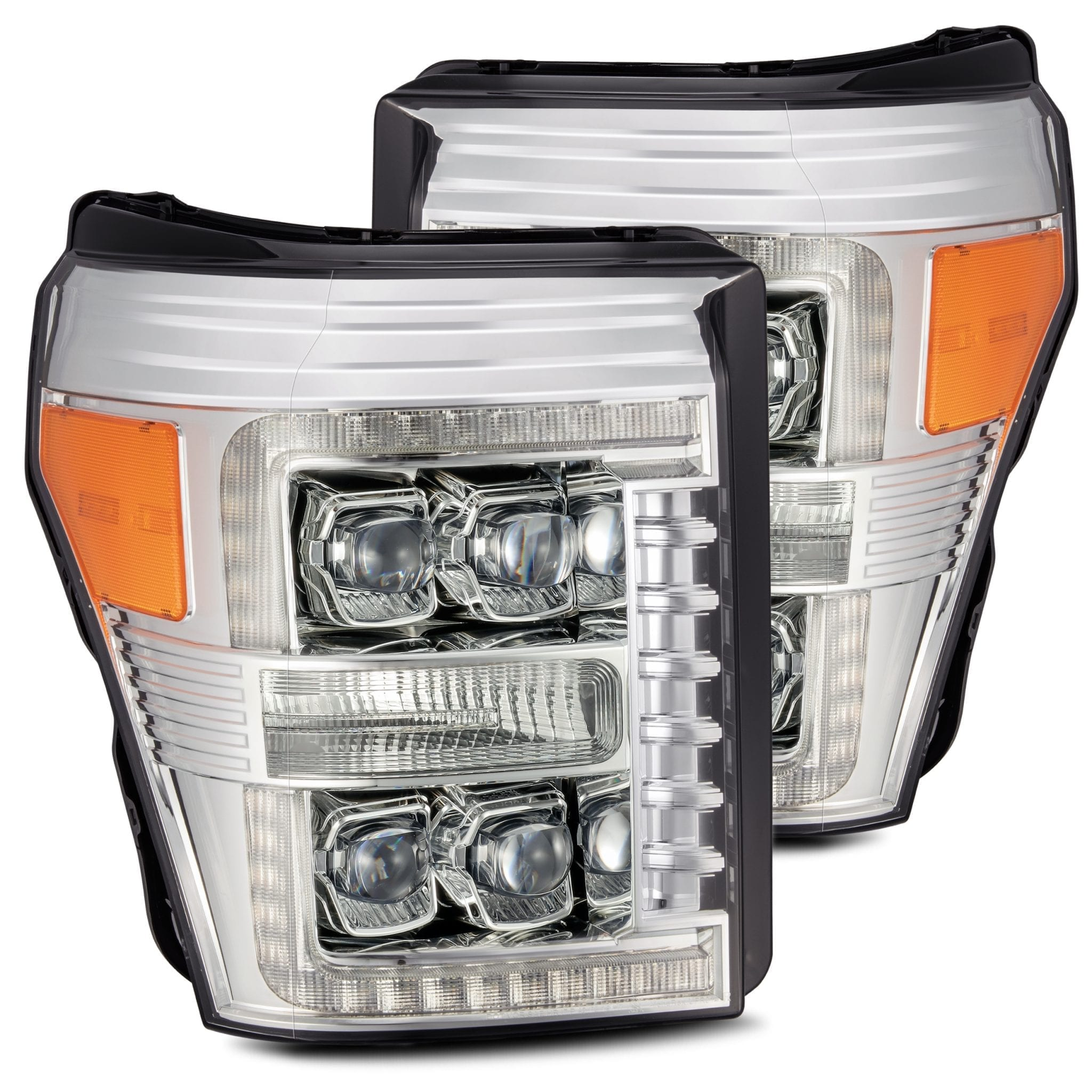 2011 2012 2013 2014 2015 2016 Ford F250 F350 F450 F550 Super Duty NOVA-Series Full LED Projector Headlights Chrome