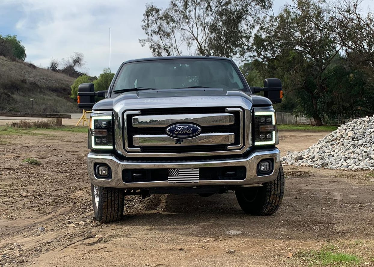 2011 2012 2013 2014 2015 2016 Ford F250 F350 F450 F550 Super Duty NOVA-Series Full LED Projector Headlights
