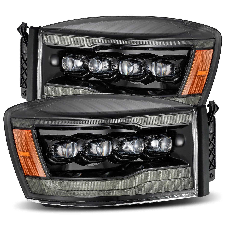 2006 2007 2008 Dodge Ram 1500 2500 3500 NOVA-Series Full LED Projector Headlights Alpha Black