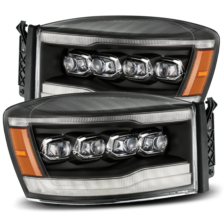 2006 2007 2008 Dodge Ram 1500 2500 3500 NOVA-Series Full LED Projector Headlights Black