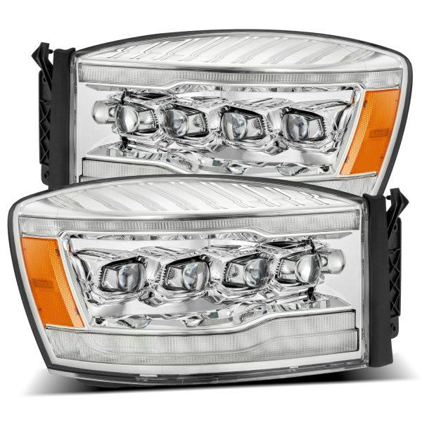 2006 2007 2008 Dodge Ram 1500 2500 3500 NOVA-Series Full LED Projector Headlights Chrome