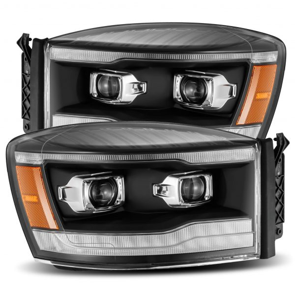 2006 2007 2008 Dodge Ram 1500 2500 3500 PRO-Series Projector Headlights Black