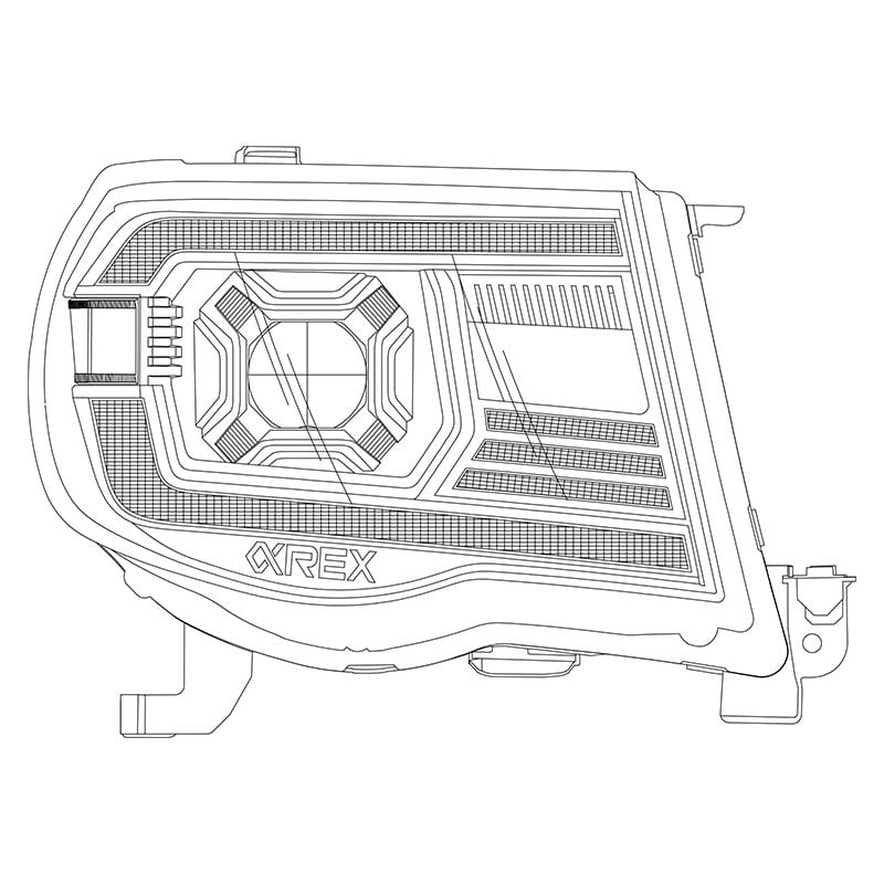 AlphaRex 2005 2006 2007 2008 2009 2010 2011 Toyota Tacoma PRO-Series/LUXX-Series LED Projector Headlights Design