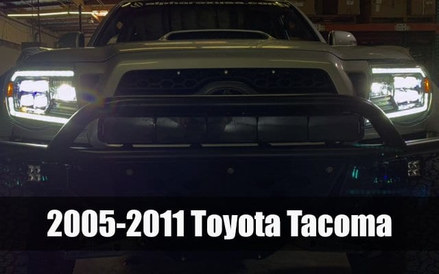 2005 2006 2007 2008 2009 2010 2011 Toyota Tacoma NOVA-Series LED Projector Headlights