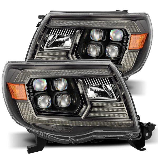 AlphaRex 2005 2006 2007 2008 2009 2010 2011 Toyota Tacoma NOVA-Series LED Projector Headlights Alpha-Black