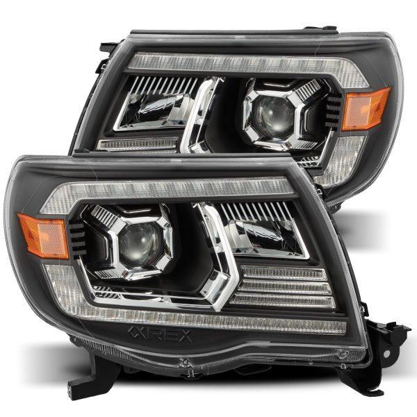 AlphaRex 2005 2006 2007 2008 2009 2010 2011 Toyota Tacoma NOVA-Series LED Projector Headlights Black