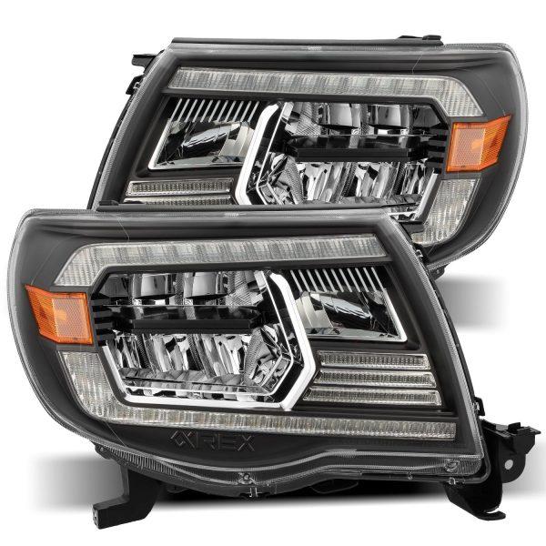 2005 2006 2007 2008 2009 2011 Toyota Tacoma LUXX-Series LED Crystal Headlights Black