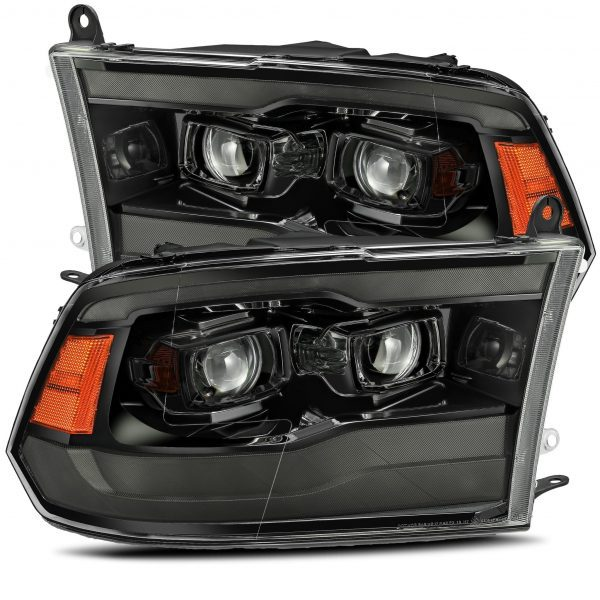 2009 2010 2011 2012 2013 2014 2015 2016 2017 2018 Ram Truck 1500 2500 3500 LUXX-Series Full LED Projector Headlights Alpha-Black