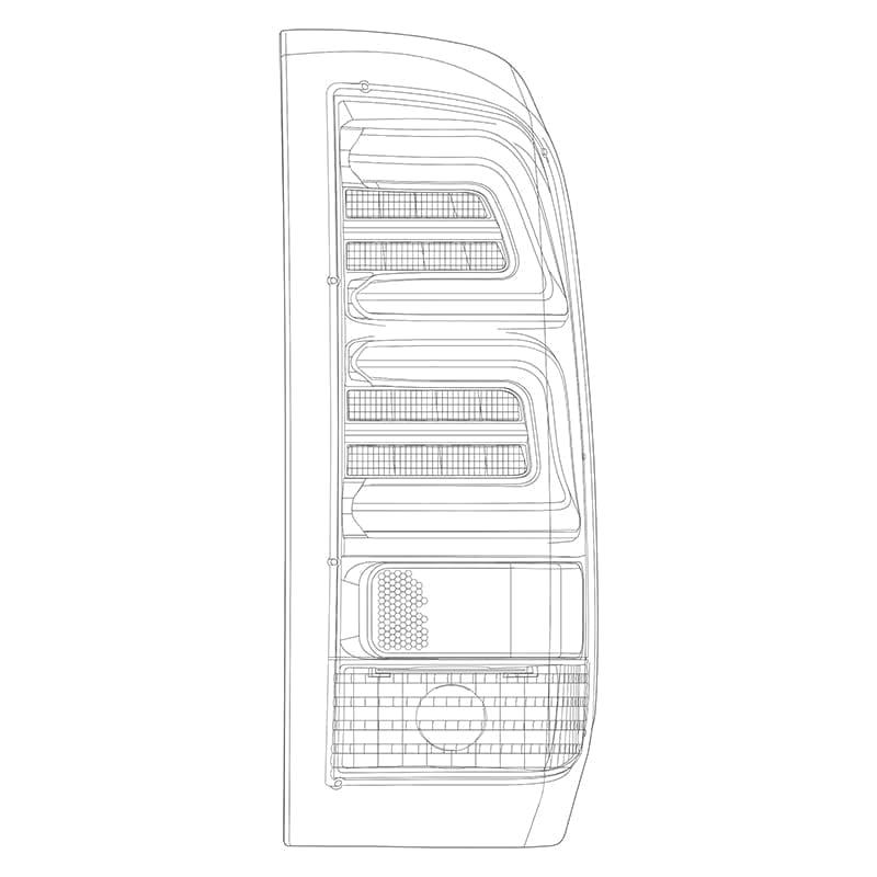 1997 1998 1999 2000 2001 2002 2003 2004 2005 2006 2007 2008 Ford F150/F250/F350 Super Duty PRO-Series LED Tail Lights Design