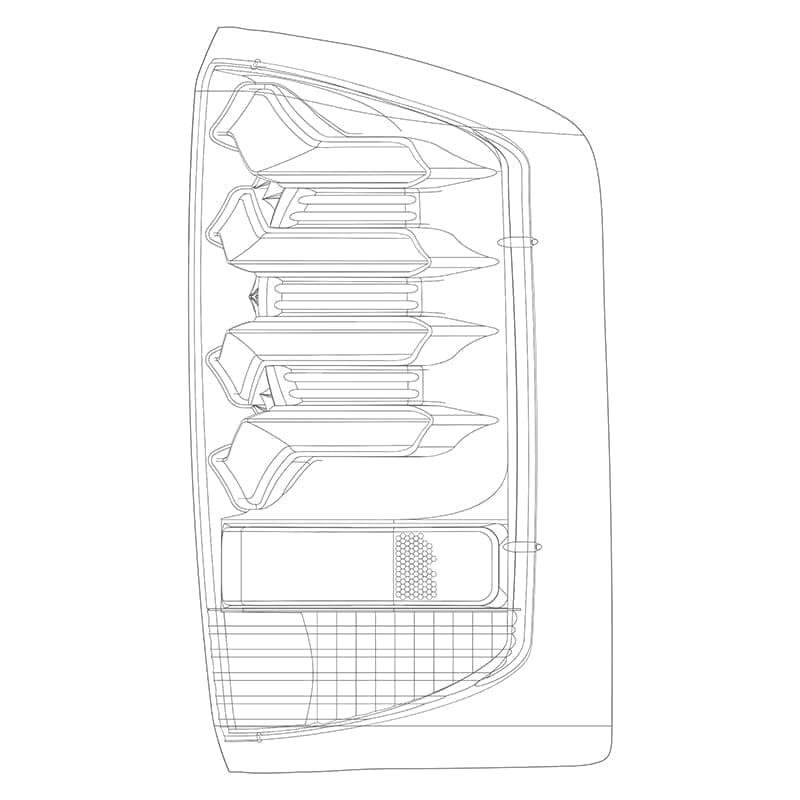 2014 2015 2016 2017 2018 2019 Chevrolet Silverado GMC Sierra PRO-Series LED Tail Lights Design
