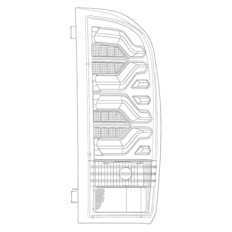 2016 2017 2018 2019 2020 Toyota Tacoma PRO-Series LED Tail Lights Design