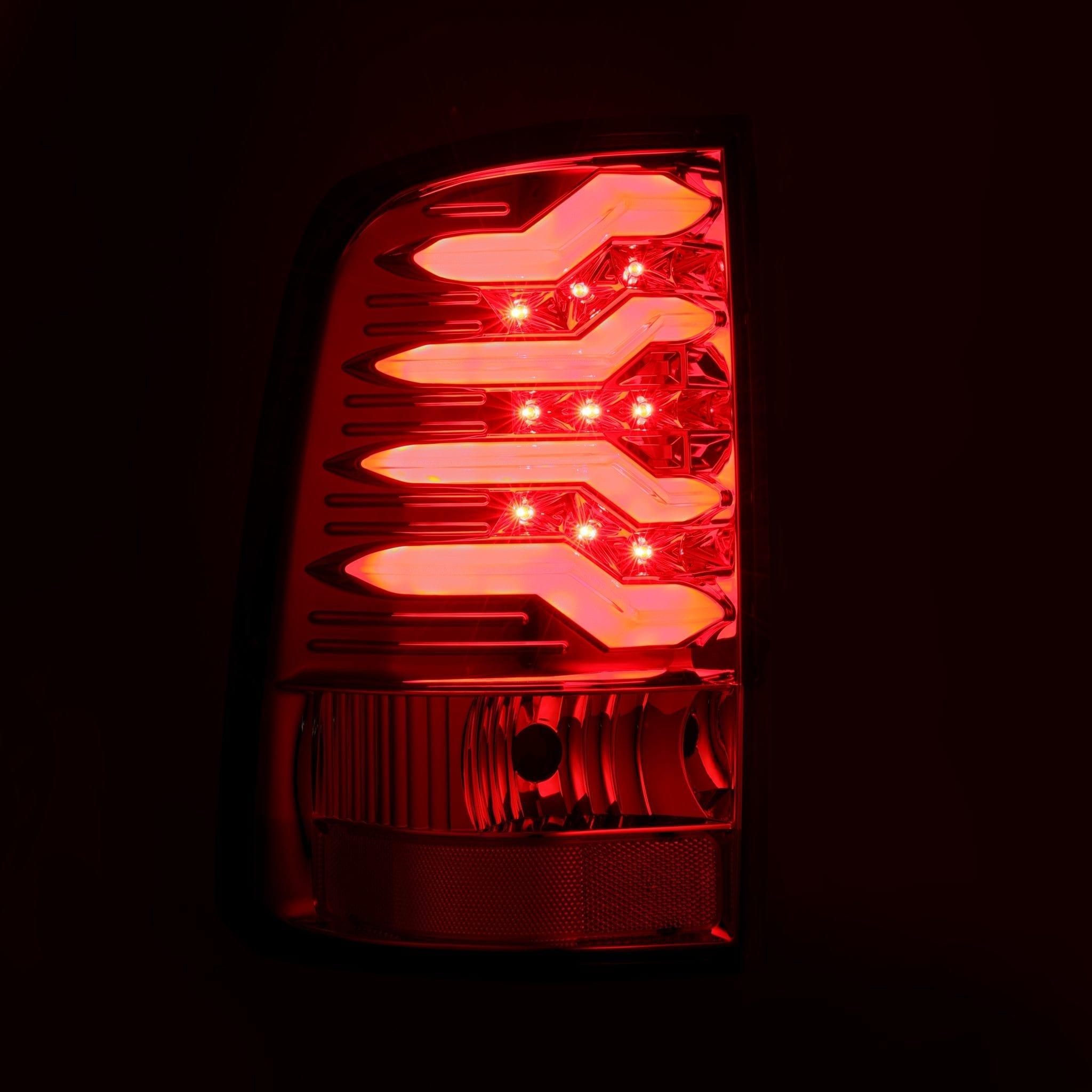 2009 2010 2011 2012 2013 2014 2015 2016 2017 2018 Ram 1500/2500/3500 PRO-Series LED Tail Lights Red Smoke