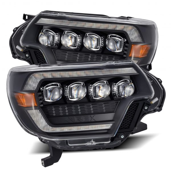 2012 2013 2014 2015 Toyota Tacoma AlphaRex NOVA-Series Projector Headlights Black